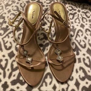 Nina Champagne Crystal Heels